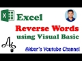 How To create Reverse Text Formula in Excel using VB Code