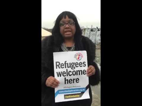 Diane Abbott from the Calais 'jungle' refugee camp