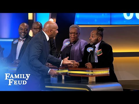 Allen tries to think... like a DOG | Family Feud