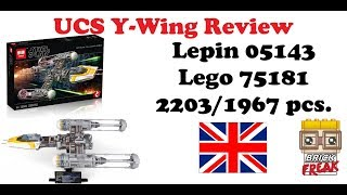 UCS Y-Wing Review - Lepin 05143 - Lego 75181 English