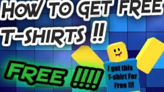 Wie man kostenlose T Shirts No Bc Needed !!! | ROBLOX