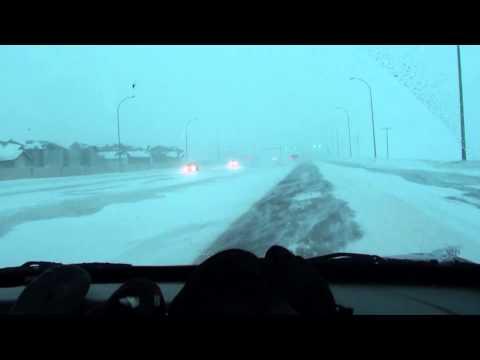Winter storm in Regina