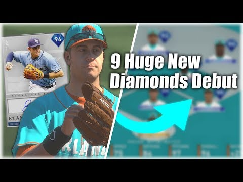 9 Insane New Diamonds Debut! 96 Overall God Squad! MLB The Show 19 Diamond Dynasty Gameplay