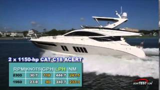 Sea Ray L650 Fly Test 2014- By BoatTest.com