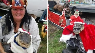 Woman Allowed To Keep Costume-Wearing, Potty-Trained Pet Alligator At Her Home