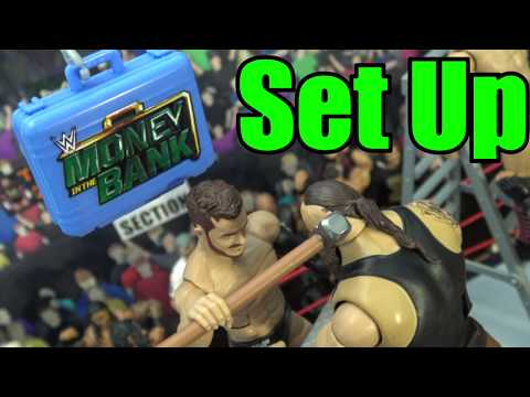 WWE Action Figure set up - Money In The Bank