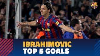 Zlatan Ibrahimovic's TOP 5 goals with Barça