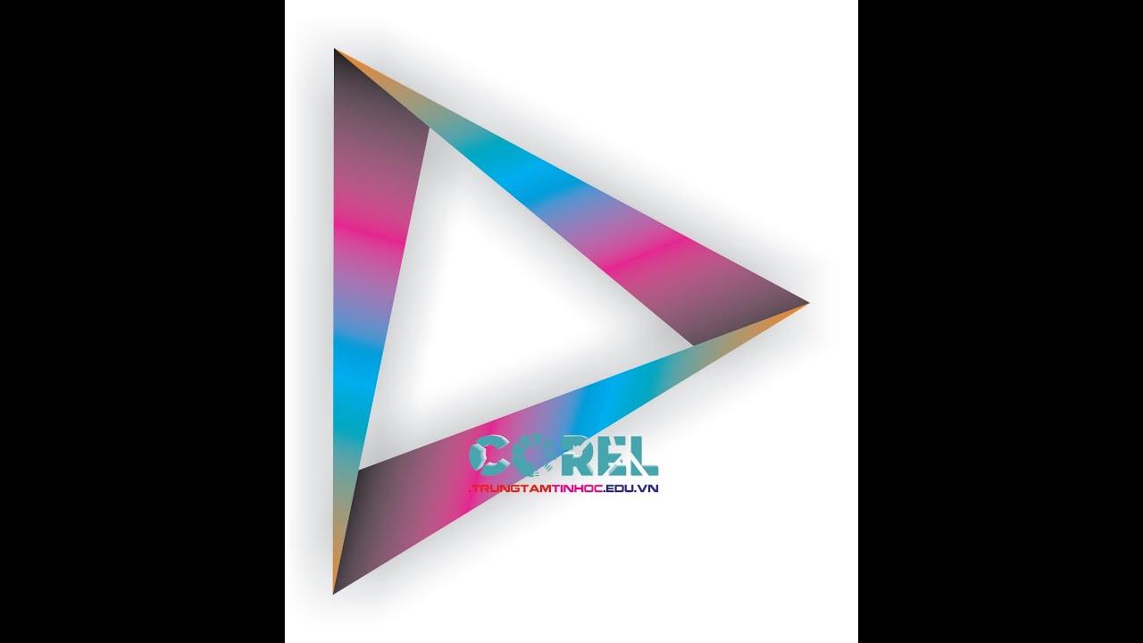Vẽ logo Diamond trong Corel, học Corel online