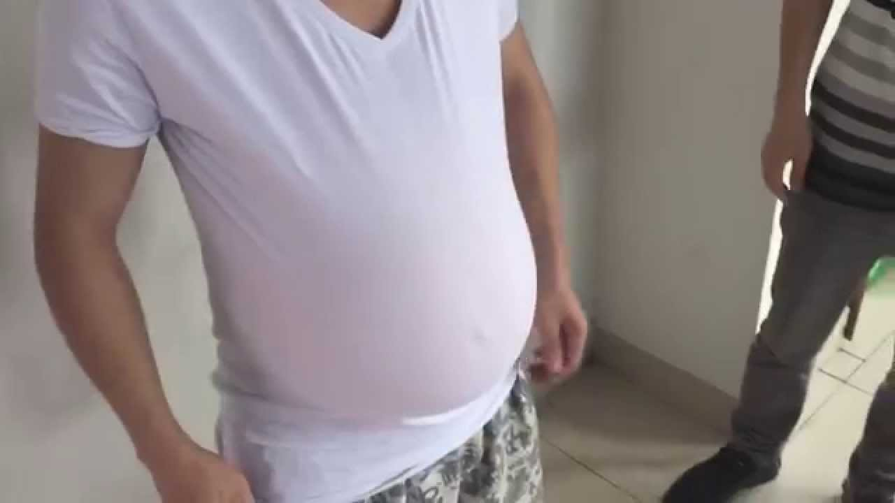 9 months pregnant real amateur slut doing fitness 4