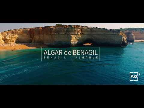 Algar de Benagil - Beach inside cave in Algarve