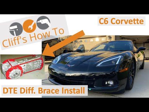 Corvette C6 DTE differential brace install