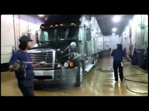 Blue beacon Truck wash Los Angeles all express