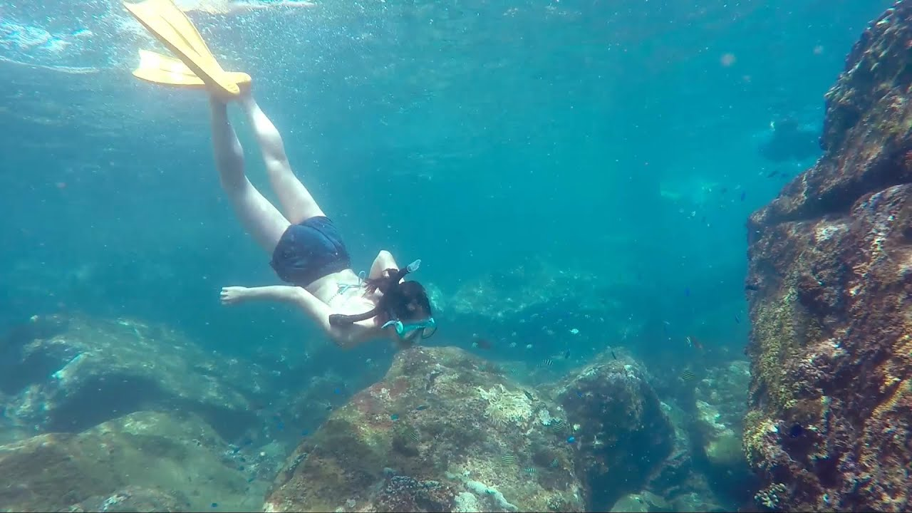 龍洞 跳水 浮淺 Cliff jumping, 浮潛5 - YouTube