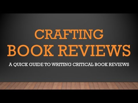 How to Write a Critical Book Review