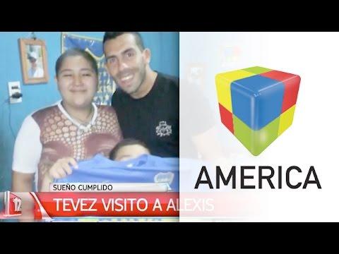 ¡¡¡Gracias Carlos Tevez!!!: Alexis cumplió su sueño
