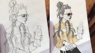 Как раскрасить рисунок в фотошопе