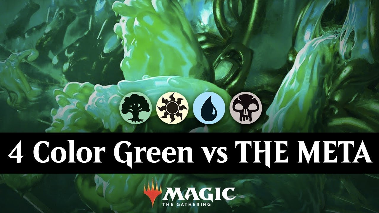 4 Color Green vs THE META - Ranked MTG Arena Gameplay