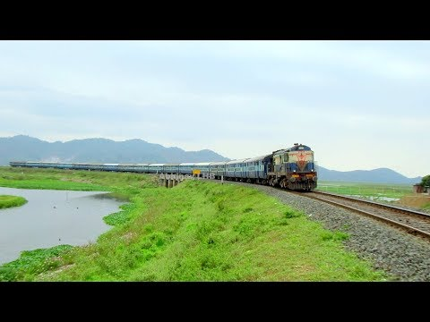 15619 Gaya - Kamakhya Express (weekly) with beautiful Malda ALCo WDM3A locomotive | Deepor Beel Lake
