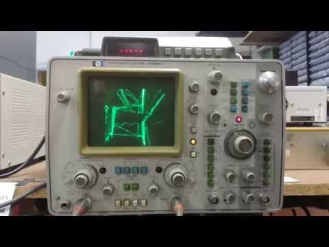 Quake on oscilloscope