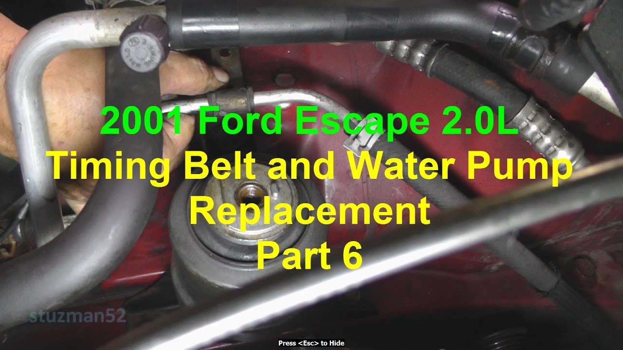 Ford Escape Timing Belt And Water Pump Replacement Part