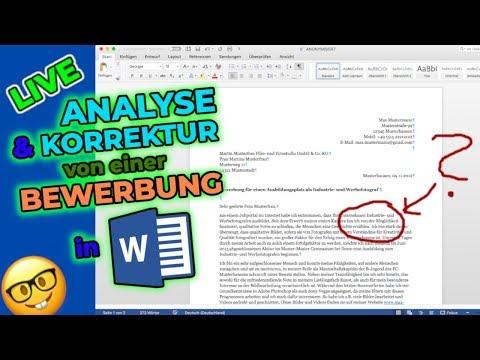 Analyse: Anschreiben Für Eine Ausbildung (Tutorial In Word)   Ich Reagiere Auf EURE Bewerbungen #1