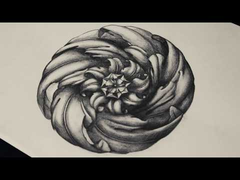 Visual Art - Drawing ornament on Acanthus Leaf- Pencil Timelapse