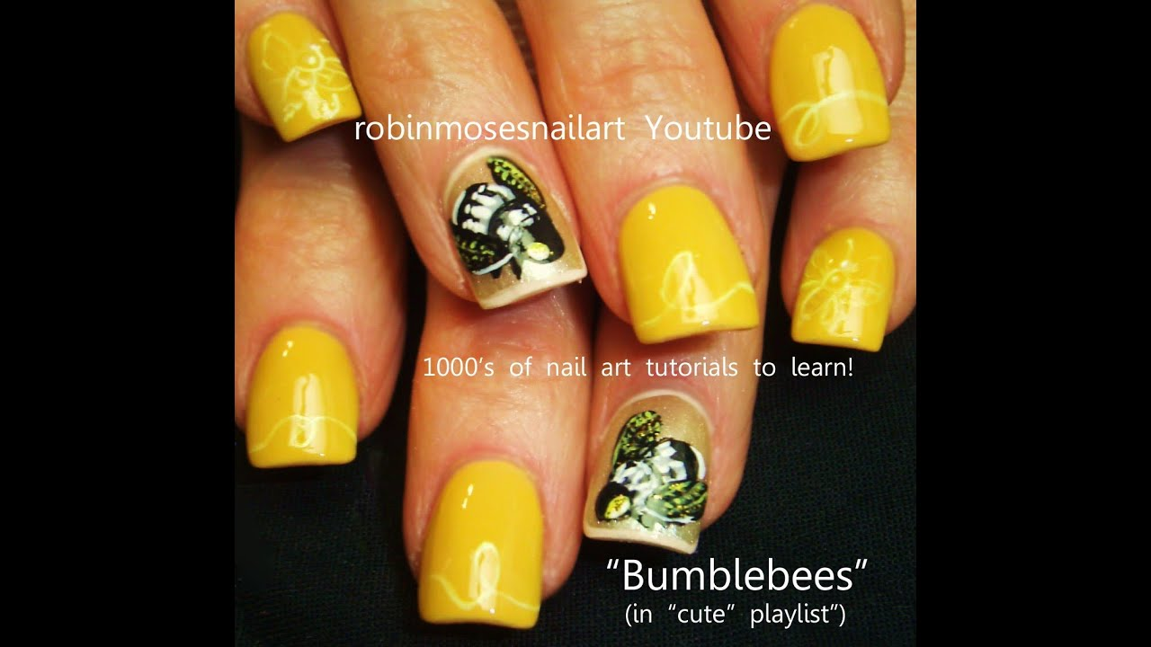 Diy queen bee nals bumblebee nail art design tutorial youtube diy queen bee nals bumblebee nail art design tutorial prinsesfo Image collections