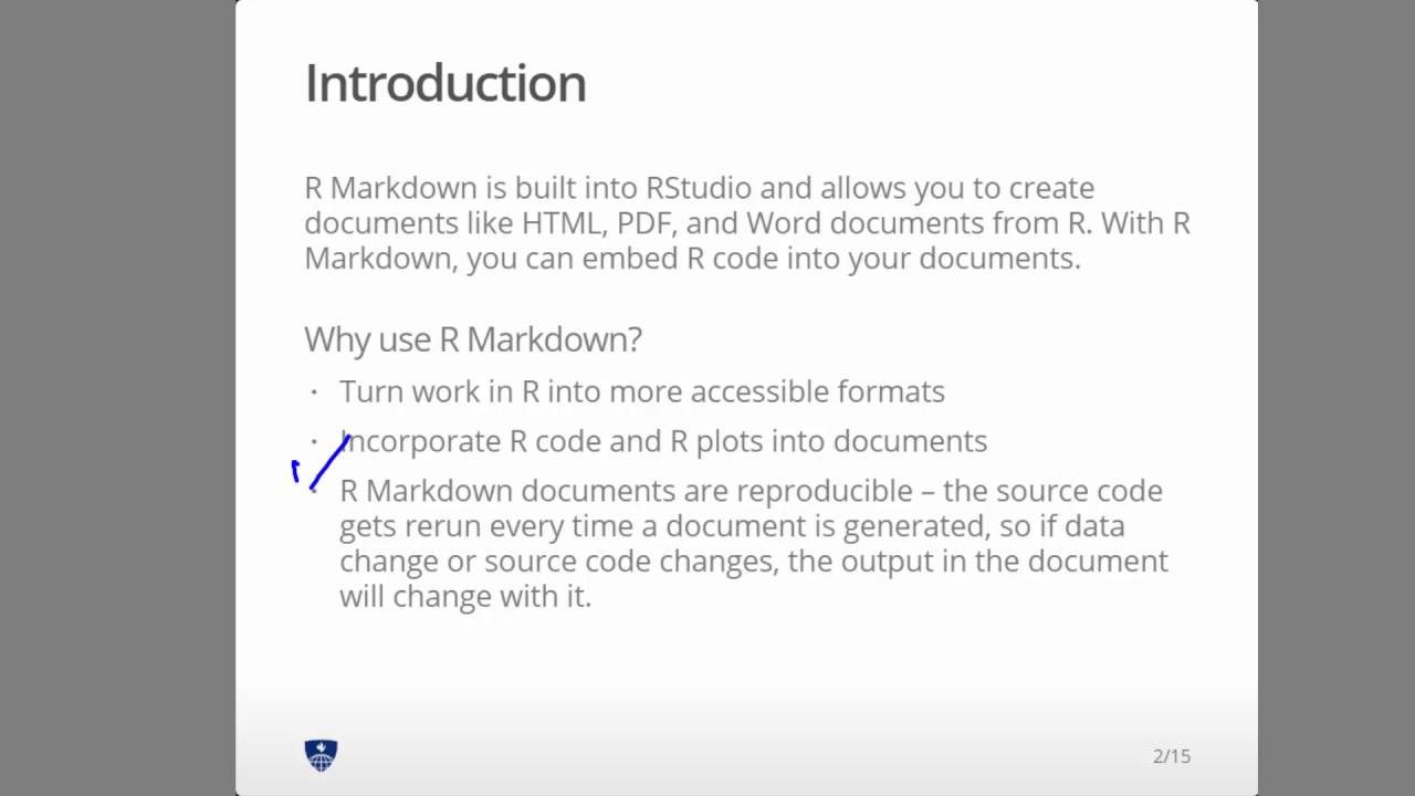 R Markdown slides part 1 of 6