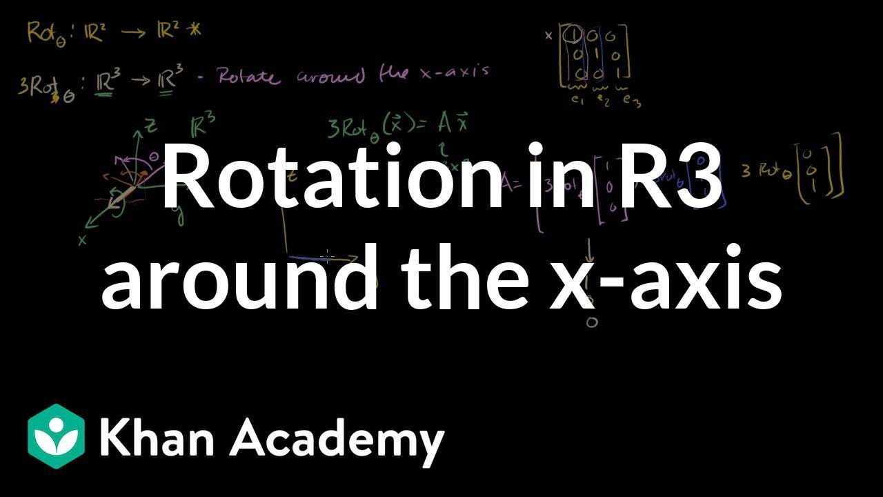 Rotation in R3 around the x-axis (video) | Khan Academy