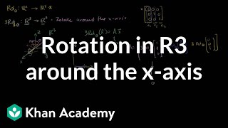 Construction a rotation transformation in R3 Watch the next lesson:...