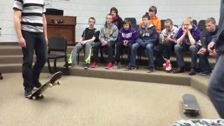 Teacher vs. student in skate during class
