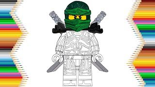 Lego Ninjago Lloyd Hands of Time Drawing & Coloring for Kids