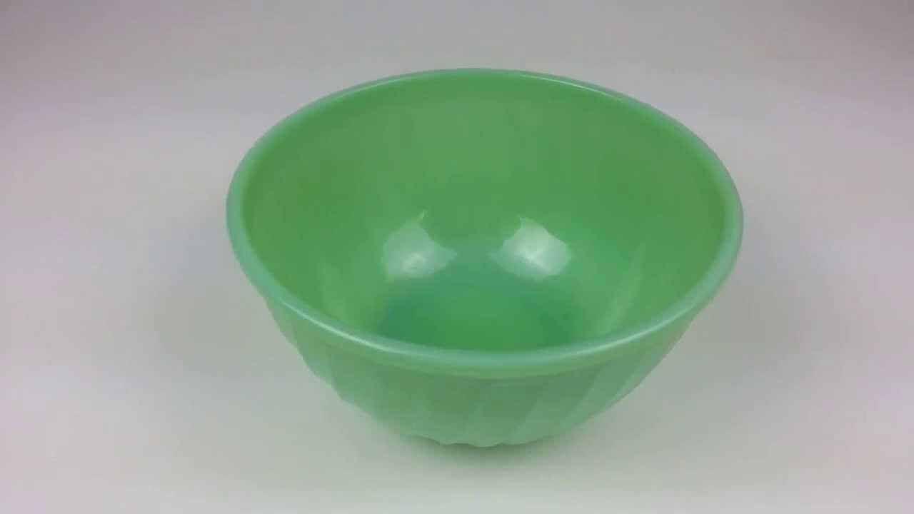 Anchor Hocking Fire King - Swirl Jadeite Pattern - 9 inchMixing Bowl ...