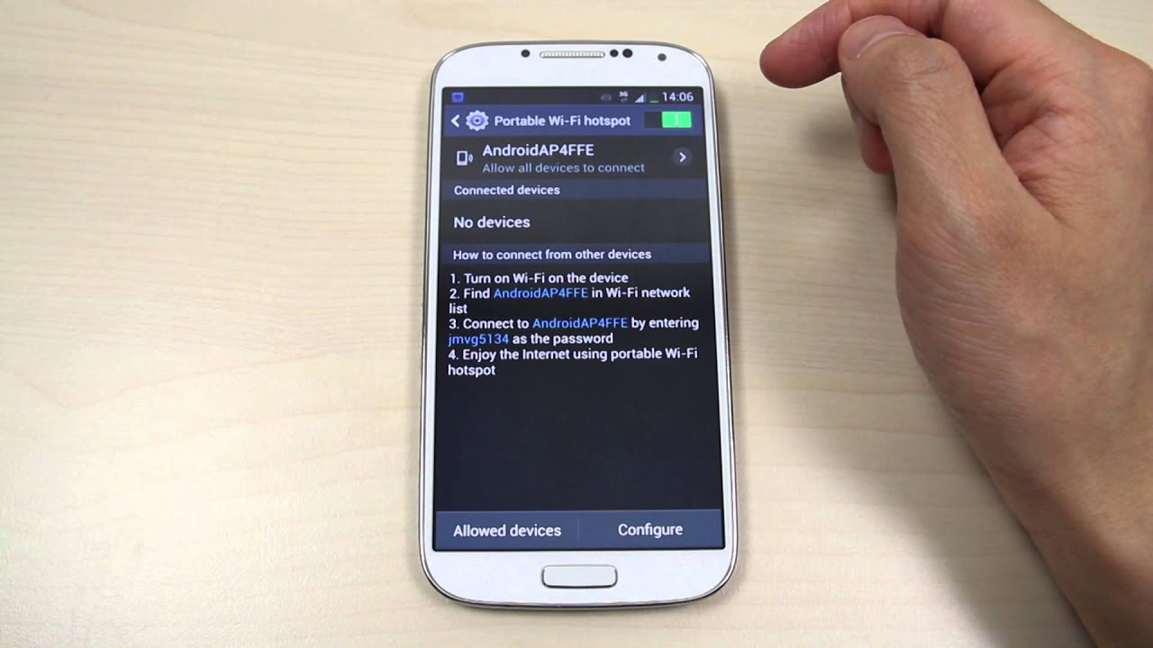 Samsung galaxy: how to connect the Internet