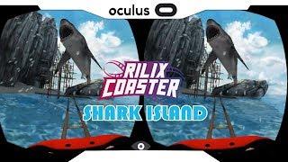 SBS 1080p► RILIX COASTER Shark Island Gear VR Gameplay • Realidade Virtual • GearVR 2018