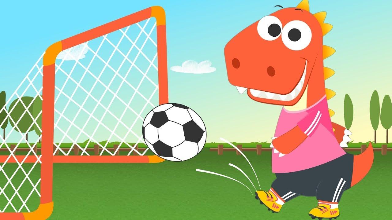 aprende con eddie a jugar al f u00fatbol  u26bd eddie el dinosaurio