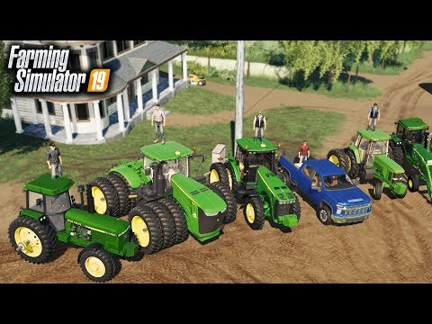 FS19- FARM DAY! HIRED HANDS RETURN TO THE FARM TO HELP FINISH PLANTING & MOWING thumbnail