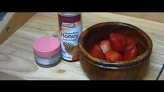 """How to Make Anti Aging Honey Strawberry Natural Homemade Cream Face Mask for Aging Mature Skin"" Thumbnail"