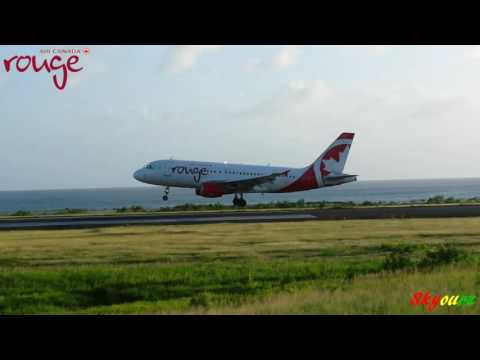 Air Canada Rouge A319 Landing in Grenada 1080p [HD]