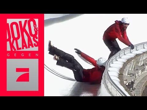 Achtung, Rutschgefahr! - Bobbahn rückwärts hochlaufen   Spiel 2   Joko & Klaas gegen ProSieben
