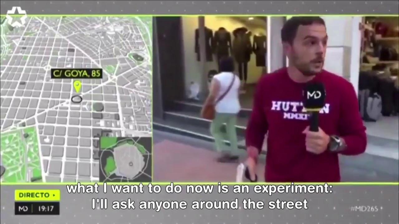 Dziennikarz chciał symulować napad z bronią w ręku - przechodzień go zniszczył