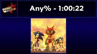 Sonic Forces - Any% Speedrun - 1:00:22
