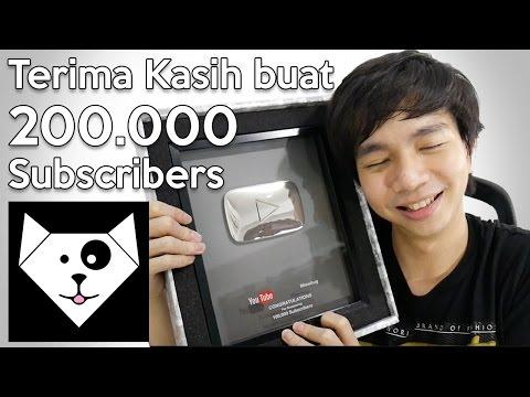 Terima kasih Untuk 200.000 Subscribers - MiawAug Vlog