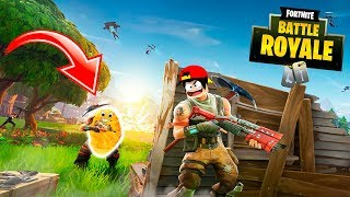 FORTNITE - I GET KILLED BY A CHICKEN NUGGET IN FORTNITE BATTLE ROYAL!!