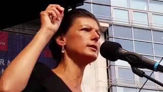 Bochum 26.8.2017 - Dr. Sahra Wagenknecht mit EXZELLENTER Wahlkampfrede in Bochum