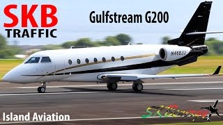 Gulfstream G200 departing St. Kitts for DuPage Airport in Chicago !!!