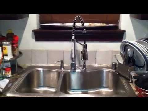 Kraus Kitchen Faucet Aid Colors Commercial Style Pull Out Review Youtube