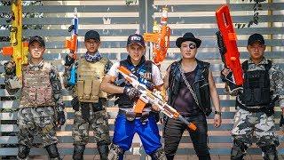 LTT Game Nerf War : Winter Warriors SEAL X Nerf Guns Fight Criminal Group Inhuman Bounty Hunter