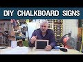 How To Make Chalkboard Signs For Selling Stuff
