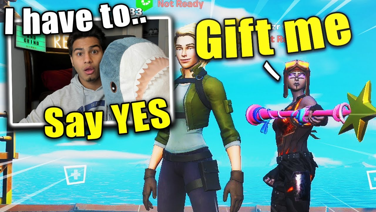 I have to say YES to my Random Fortnite Duo.. (season 3 Challenge Video)
